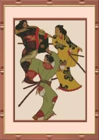 Три танцующих самурая.