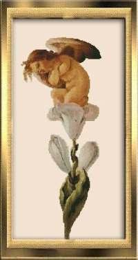 Ангелочек на цветке.