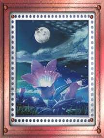 Волшебные цветы в лунную ночь.