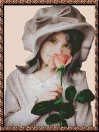 Девочка с розой.