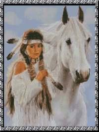 Девушка с лошадью.