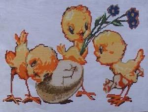 Первое место в... Она прислала пять вышивок птичек из Библиотеки маленьких схем, но конечно же успех ей обеспечила...