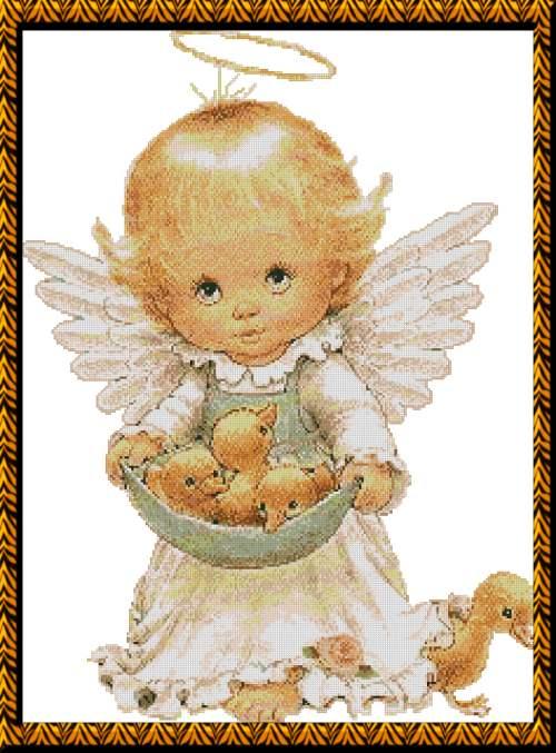 С набором для вышивки крестиком Почти идеальный (Almost Perfect) Схема для вышивки ангелочков и.