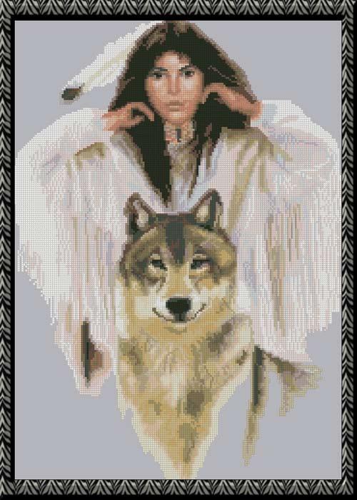Девушка ангел волк оборотень замок