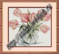 Розовые тюльпаны.