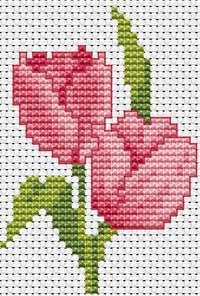 """""""Часть 1. http://stitch.welljob.ru.  Маленькие схемы вышивки крестиком.  Новогодний сапог."""