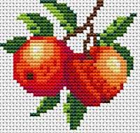 Яблоки - Узоры для вышивок - Вышивка крестом - Разделы сайта - Ялтинский дворик.