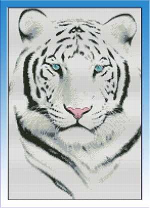 Скачать бесплатно схемы для вышивки крестом белый тигр